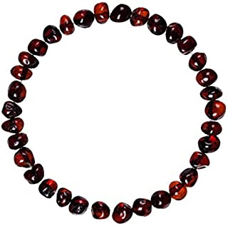 Adult Baltic Amber Bracelet (Unisex, Cherry, 7.5 Inches) Lab-Tested, 100% Certified Baltic Amber - Natural Pain Relief & Anti-Inflammatory for Migraine, Sinus, Arthritis & More!