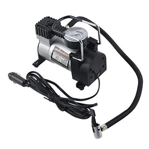 YXDS Car Air Pump Portable Super Flow DC 12V 80PSI Air Compressor Tyre Inflator Car Air Pump Vehicle Pump Electric Pressure Gauge