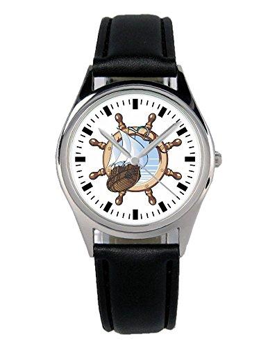 Geschenk für Seemann Fahrer Segler Uhr B-2189