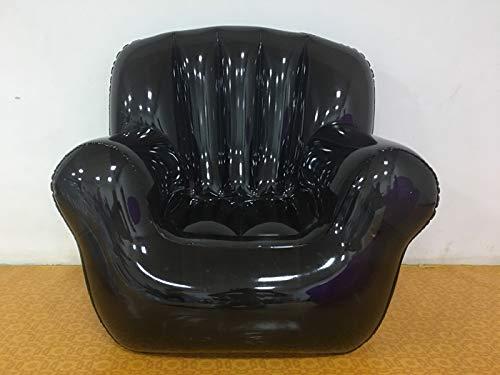 LQYHocker Aufblasbares Stuhl-Sofa/faule transparente, tragbare Kissen Hocker/tragbares einzelnes aufblasbares Sofa im Freien, schwarzes Sofa Reparatur-Set