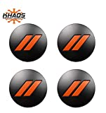 Khaos Motorsports Hub Center Cap OEM Color Matched Compatible with Dodge Challenger/Charger (Go Mango NVP/Matte Black)