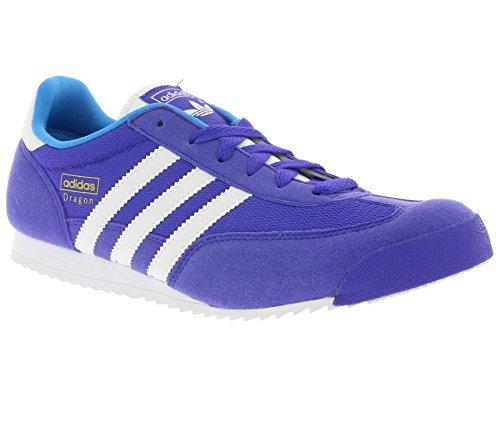 Adidas Dragon J Schuhe night flash-running white-solar blue - 36