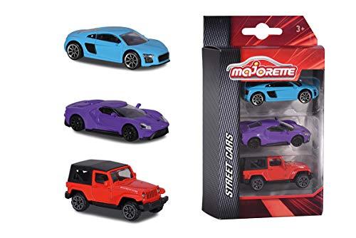 Majorette - Authentic Set 3 Pièces - Voitures Miniatures en Métal - Coffret 3 Véhicules Street Cars - 212052270Q08