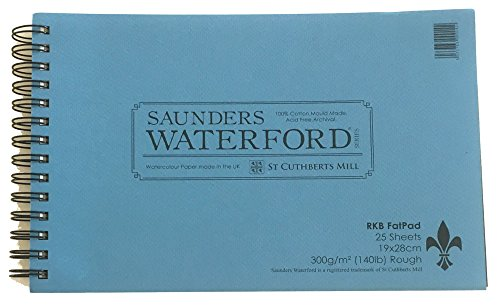 Saunders Waterford : 7.5x11in : Spiral Fat Pad : 25 Sheets : Rough