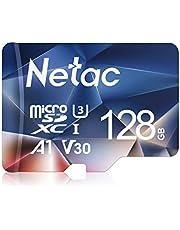 Netac 128GB Scheda Micro SD, Scheda di Memoria A1, U3, C10, V30, 4K, 667X, UHS-I velocità Fino a 100/30 MB/Sec(R/W) Micro SD Card per Telefono, Videocamera, Switch, Gopro, Tablet, PC