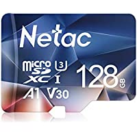 Netac Tarjeta de Memoria de 128GB, Tarjeta Memoria microSDXC(A1, U3, C10, V30, 4K, 667X) UHS-I Velocidad de Lectura hasta 100 MB/s, Tarjeta TF para Móvil, Cámara Deportiva, Switch, Gopro, Dashcam