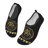 C-shop Wu-Tang Clan Cream Water Shoes - Zapatos de deporte acuático para mujer, zapatos de playa para hombre, Black, 33 EU