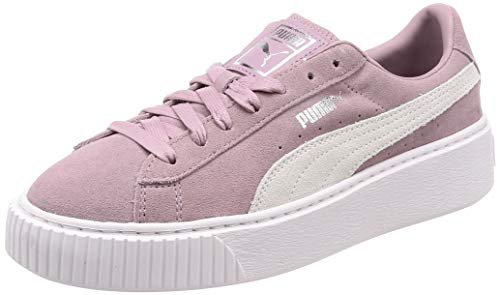 Puma - Suede Platform, Zapatillas Mujer, Rosa (Peach Bud-Puma Silver 10), 39 EU