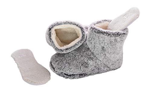 Snookiz - Zapatillas para mujer (microondas), Faux Fur (Light Grey), 6/7