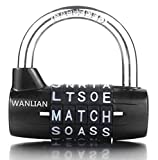 WANLIAN 5-Dial Combination Padlock, Black 5 Letters Lock Code Lock Large Gym Cabinet Locker Room...