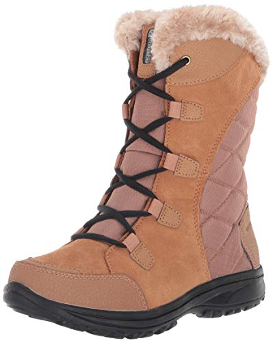 Columbia Women's Ice Maiden II Snow Boot, elk, Black, 7 Regular US