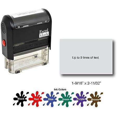 SHIPS APRIL 2021  5 x 1.5 inches Custom Box Stamp logo stamp