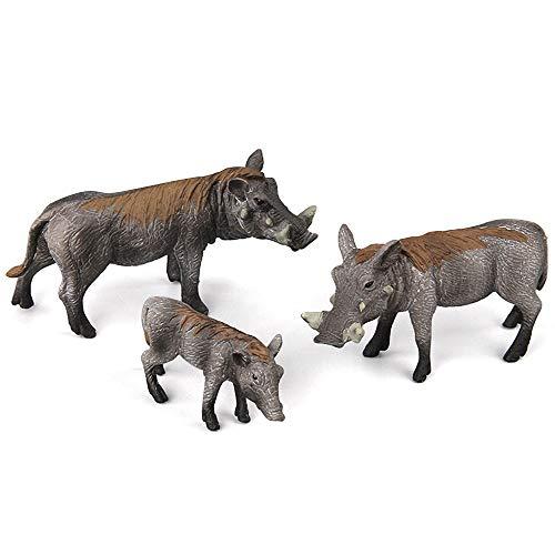 Fantarea Simulation Realistic Wild Life Jungle Animal World Figures Boar Pig Model Set Toys Desktop Decor Ornament Birthday Party Favors Classrooms Rewards for Children Kid(3 pcs)