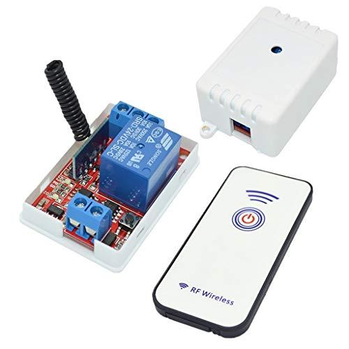BJLWTQ Relay, Interruptor de 24V 1 Canal de relé Módulo Receptor 433M con 1 Botón Controlador RF