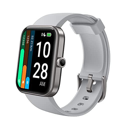 LATEC Smartwatch, 1,69 Zoll Fitness Armbanduhr für Damen Herren, Fitnessuhr Sportuhr mit Pulsuhren, Schwimmmodus, Alexa Integration, Schrittzähler Schlafmonitor Blutsauerstoffmonitor für iOS Android