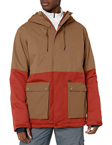 Billabong Herren Fifty 50 Snowboard Jacket Isolierte Jacke, Ermine Heather, Large