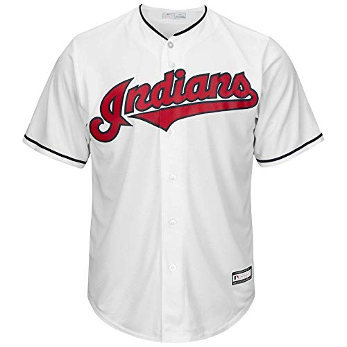 OuterStuff Youth Cleveland Indians Francisco Lindor White Home Replica Player Jersey (Youth Medium 10/12)