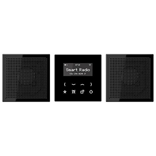 Jung Rad 928 SW Smart Radio-Set Stereo Serie LS schwarz