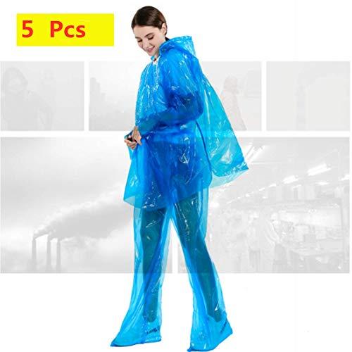 SmartRing DESECHABLE Azul Transparente Impermeable Lluvia de Polvo Traje pantalón y la Saliva, 5 Juegos