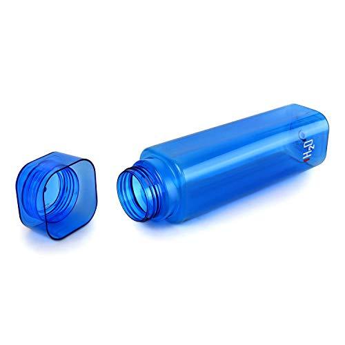 Cello H2O Squaremate Plastic Water Bottle, 1-Liter, Set of 6, Assorted (CLO_H2O_SQMT1L_SO6_ASRTD)