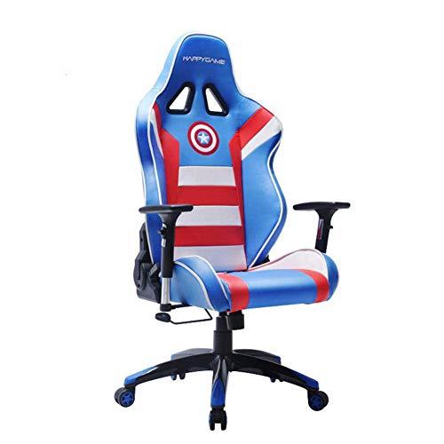 Computerr Juego E-sportsr, cómodo hogar Ocio ergonomicr Cuero de la PU con el reposapiés Respaldo Alto Una GDSZMMLS (Color : 2)