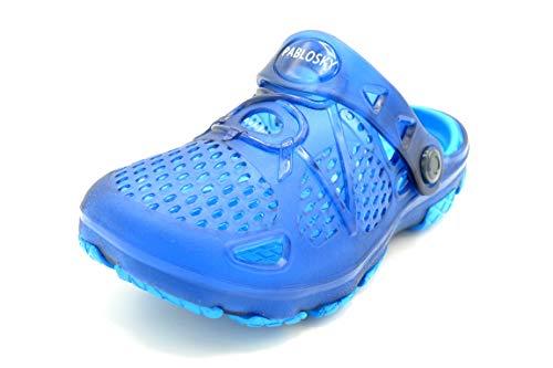 Pablosky 964021 Blue - Zueco de Goma crocks para niño (Numeric_26)