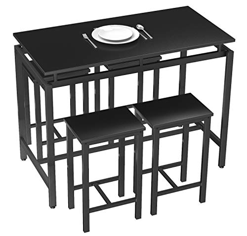 Dining Table and 4 Chairs for 4 People Use Dinner Breakfast ,Coffee Table for Living Room, 47.2'' X 23.6'' X 35''
