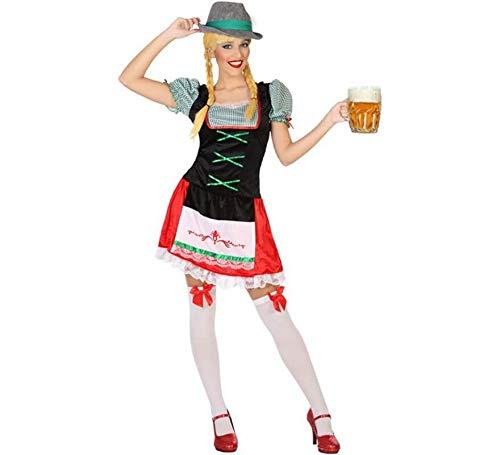 Atosa-53855 Atosa-53855-Disfraz Alemana-Adulto XS a S-Mujer, Color verde (53855