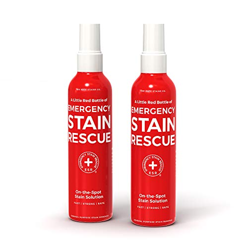 Emergency Stain Rescue Stain Remover – All Purpose Direct Spray for Carpet, Upholstery, Clothes, Add to Laundry. Works on Fresh & Old Organic or Inorganic Stains (120ml, 4 oz Spray Bottles) 2 Pack