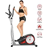 ANCHEER Elliptical Machine for Home Use, Magnetic Elliptical Exercise Training Machine with LCD...