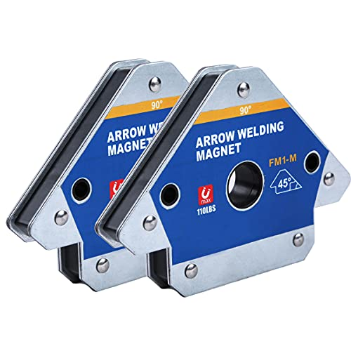 Heavy arrow welding magnet Metal processing Mig tools and equipment Magnetic welding fixture, can be used for industrial welding, workshop welding iron, metal bracket fixing (Large 110lb 2 pcs)