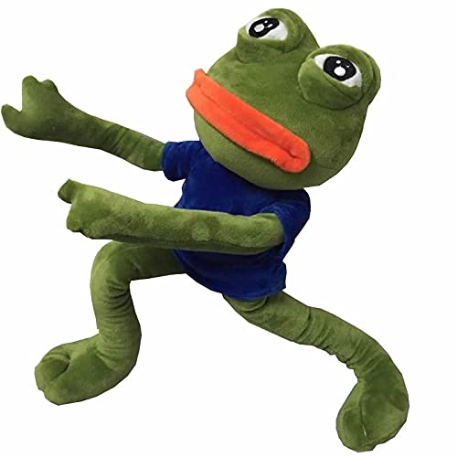 Peluches 45cm Extremidades Deformables Ranas Juguetes De Peluche Pepe Y Jenny Sad Frog Animal Relleno Muñeco De Peluche Juguetes para Regalos De Cumpleaños