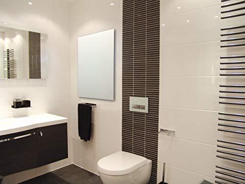 HoWaTech Infrarot Glasheizkörper 60x120cm 1050W Heizpaneel | weiß schwarz rot Spiegel, Farbe:weiß