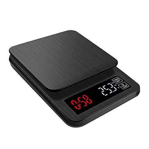 CHENC Präzision Elektronische Küchenwaage, Mini Digital Küchenwaage LCD-Display Mit Zeitfunktionen, Low Power Reminding Und Überlastungen Reminding