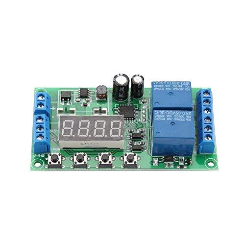HUAHUA Cicly Timer Relay Módulo de relé de CC 7-30V de retardo, el módulo relé de control YF-7 Delay Time Module Interruptor temporizador de retransmisión de hora doble relé de canal for los aparatos