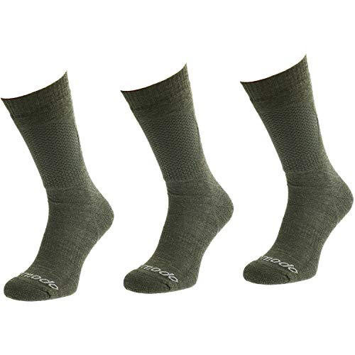 Comodo - Jagdsocken Herren & Damen aus Merinowolle|3er Paar extra warme Jagdstrümpfe für den Winter|Bundeswehr Socken für Jungen|Thermo Kniestrümpfe für Jäger|HUN1 gr 35-38 Khaki