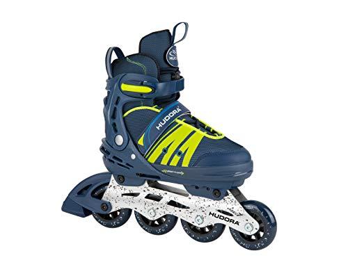 HUDORA Inline Skates Comfort,deep blue | Gr. 29-34 | Softboot Inliner Rollschuhe verstellbar in Länge & Breite