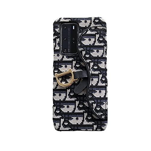 Carcasa de teléfono de Metal Tejida Bordada con Hebilla para iPhone 12Mini...