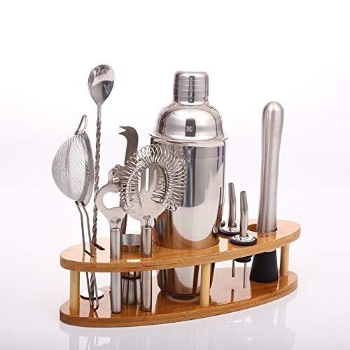 ZRXRY 12 Stück Barkeeper Kit mit Ständern - Complete Bar Set Cocktail Shaker Set für Drink Mischen - am besten für Anfänger