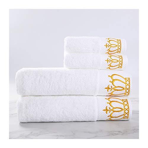 MGHN Toallas 3pcs Conjunto de Toallas de algodón +1 Toallas de baño Conjunto de baño para baños de Invitados Familiares Gimnasio Home Home Hotel Toallas (Color : 3 Piece Set)