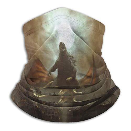 lymknumb Artwork Weta Workshop König Ghidorah Rodan Ruinen Bequeme Sturmhaube, Multifunktionale Kopfbedeckung Halsmanschette für Männer
