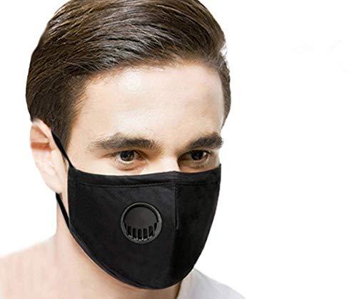 Fantasien Reusable Dust Masks Air Purifying PM2.5 Carbon Filter Face Mask