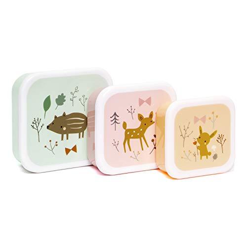 Cajas de Almuerzo Set - petit monkey, Farbe:mint