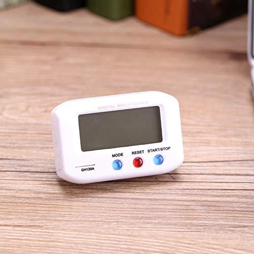 Omabeta Reloj Despertador con retroiluminación para Regalo de Mesa(White)