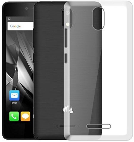 BKED® 1pc Back Cover for Micromax Canvas Spark 4G 2017 Q409 Soft Silicone Transparent Cover (Top Selling) by Bk Enterprise