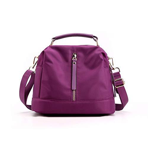 Bolsos de moda ligero Crossbody bolsa de viaje monederos bolsa de hombro mediano para las mujeres, morado (Púrpura/Ombre Force.), Medium