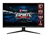 MSI Optix G271-27 inch IPS Gaming Monitor – Full HD - 144hz Refresh Rate - 1ms Response time – AMD Freeync for Esports