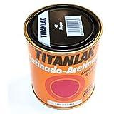 Titanlux - Esmalte-Laca poliuretano satinada Titanlak, Negro, 375ML (ref. 011140138)