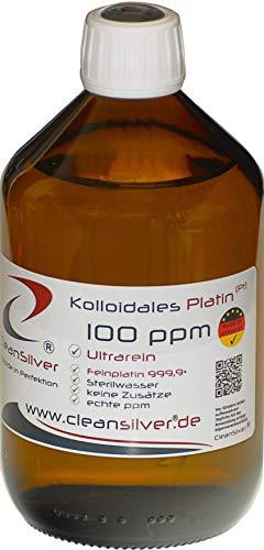 Kolloidales Platin 100 ppm 500ml, ultrarein 99,99%, immer frisch hergestellt (pharm. Sterilwasser, Braunglas-Euromedizinflasche mit Originalitätsverschluss, keine Lagerware!)