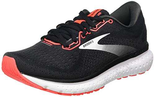 Brooks Damen Glycerin 18 Laufschuh, Black/Coral/White, 40.5 EU